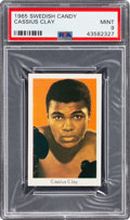 Baseball Cards:Singles (1950-1959), 1965 Swedish Candy Cassius Clay (Muhammad Ali) PSA Mint 9 - Pop One, None Higher!...