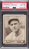 Baseball Cards:Singles (1940-1949), 1940 Play Ball Stonewall Jackson #158 PSA NM-MT 8 - One Higher. ...