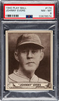 Baseball Cards:Singles (1940-1949), 1940 Play Ball Johnny Evers #174 PSA NM-MT 8 - None Higher...