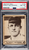 Baseball Cards:Singles (1940-1949), 1940 Play Ball Christy Mathewson #175 PSA NM-MT 8 - One Higher. ...