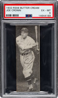 Baseball Cards:Singles (1930-1939), 1933 Butter Cream Joe Cronin PSA EX-MT 6 - Pop One, Two Higher. ...