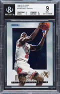 Basketball Cards:Singles (1980-Now), 1996-97 Skybox E-X2000 Michael Jordan Credentials #9 BGS Mint 9 - Numbered 301/499....