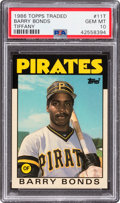 Baseball Cards:Singles (1970-Now), 1986 Topps Traded Tiffany Barry Bonds #11T PSA Gem Mint 10....