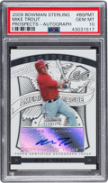 Baseball Cards:Singles (1970-Now), 2009 Bowman Sterling Mike Trout Prospect Autograph #BSPMT PSA GemMint 10....