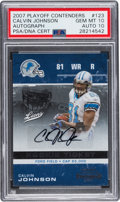 Football Cards:Singles (1970-Now), 2007 Playoff Contenders Calvin Johnson Rookie Ticket Autograph #123 PSA Gem Mint 10 - Auto 10....