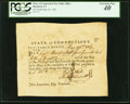 Colonial Notes:Connecticut, Connecticut Pay Table Office £4.10s.8d May 29, 1782 PCGS ExtremelyFine 40.. ...
