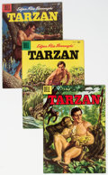 Silver Age (1956-1969):Adventure, Tarzan Group of 4 (Dell, 1955-59) Condition: Average VF+.... (Total: 4 Comic Books)