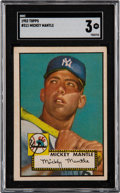 Baseball Cards:Singles (1950-1959), 1952 Topps Mickey Mantle #311 SGC VG 3....
