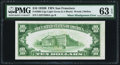 Misalignment Error Fr. 2002-L $10 1928B LGS Federal Reserve Note. PMG Choice Uncirculated 63 EPQ