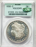 1898-O $1 MS63 Deep Mirror Prooflike PCGS. Gold CAC. PCGS Population: (209/547). NGC Census: (120/244). MS63. ...(PCGS#...