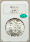 1885-CC $1 MS64 NGC. CAC. NGC Census: (3743/2578). PCGS Population: (8374/5874). CDN: $600 Whsle. Bid for problem-free N...