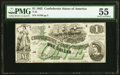 Confederate Notes:1862 Issues, T45 $1 1862 PF-1 Cr. 342A PMG About Uncirculated 55.. ...