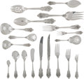 Silver & Vertu:Flatware, A Two Hundred and Twenty-Five Piece Wallace Grande Baroque Pattern Silver Flatware Service, Wallingford, Connect... (Total: 224 Items)