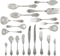 A Two Hundred and Twenty-Five Piece Wallace Grande Baroque Pattern Silver Flatware Service</