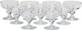 Glass, Nine Steuben 7877 Pattern Champagne/Tall Sherbet Glasses, Corning, New York, mid-20th century. Marks: Engraved ... (Total: 9 Items)