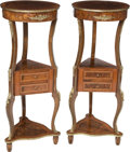 Furniture , A Pair of Mahogany and Gilt Metal-Mounted Pedestals, late 20thcentury. 45-5/8 x 18-1/2 x 18-1/2 inches (115.9 x 47.0 x 47.0...(Total: 2 Items)