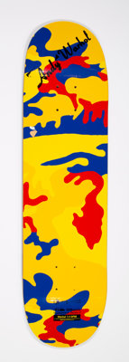 MHI Mhi X The Andy Warhol Foundation Pop Bonsai DPM-Series 2 Screenprint in colors on skate deck