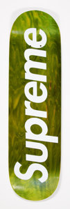 Collectible:Contemporary, Supreme . Green Logo, 2008. Offset lithograph on skate deck. 32 x 8 inches (81.3 x 20.3 cm). Produced by Supreme, New Yo...