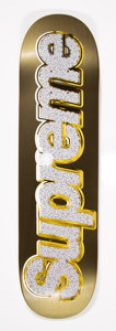 Collectible:Contemporary, Supreme . Bling (Gold), 2013. Offset lithograph in colors on skate deck. 32 x 8 inches (81.3 x 20.3 cm). Produced by Sup...