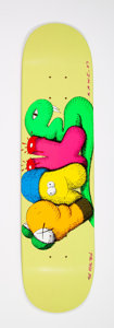 Collectible:Contemporary, KAWS (American, b. 1974). Real Fake, 2007. Screenprint in colors on skate deck. 32 x 8 inches (81.3 x 20.3 cm). Signed, ...