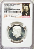 Kennedy Half Dollars, 2014-S 50C Silver, Enhanced Finish, 50th Anniversary Set, High Relief, Early Releases , SP70 Prooflike NGC. NGC Census:...