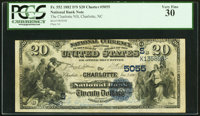 Charlotte, NC - $20 1882 Date Back Fr. 552 The Charlotte NB Ch. # (S)5055 PCGS Very Fine 30