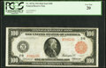 Fr. 1073a $100 1914 Red Seal Federal Reserve Note PCGS Very Fine 20