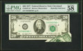 Fr. 2072-D* $20 1977 Federal Reserve Note. PMG Choice About Unc 58 EPQ