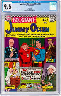 Superman's Pal Jimmy Olsen #95 Pacific Coast Pedigree (DC, 1966) CGC NM+ 9.6 Off-white pages
