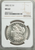 Morgan Dollars: , 1882-CC $1 MS62 NGC. NGC Census: (1929/15508). PCGS Population: (3031/30778). CDN: $210 Whsle. Bid for problem-free NGC/PCG...