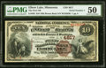 National Bank Notes:Minnesota, Elbow Lake, MN - $10 1882 Brown Back Fr. 485 The First National Bank Ch. # 4617 PMG About Uncirculated 50.. ...