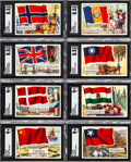 Non-Sport Cards:Sets, 1956 Topps Flags of The World High Grade Complete Set (80). ...