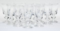 Art Glass, Twelve Steuben 7926 Pattern Port Wine Glasses, Corning, NewYork, mid-20th century. Marks: Engraved Steuben... (Total:12 Items)