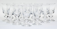 Twelve Steuben 7926 Pattern Port Wine Glasses, Corning, New York, mid-20th century