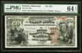 Wadena, MN - $50 1882 Brown Back Fr. 513 The First National Bank Ch. # 4821 PMG Choice Uncirculated 64