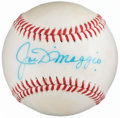 Autographs:Baseballs, Joe DiMaggio Single Signed Baseball, PSA/DNA NM 7....