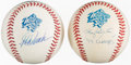 Autographs:Baseballs, Roger Clemens & Jorge Posada Single Signed Baseball Pair....(Total: 2 items)