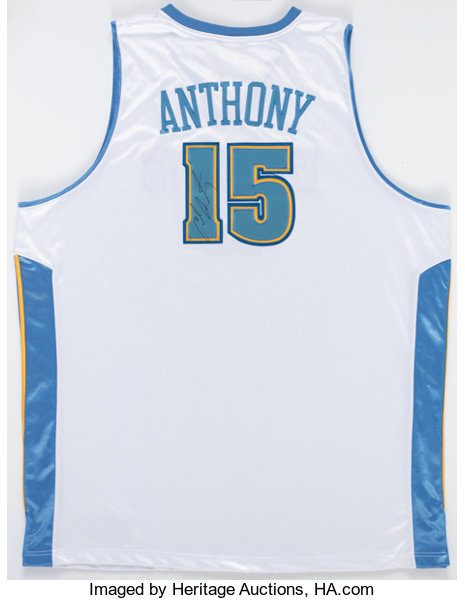 new arrival 5ab79 f1ba3 Carmelo Anthony Signed Denver Nuggets Jersey.... Autographs ...