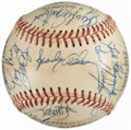 Autographs:Baseballs, 1975 Cincinnati Reds Team Signed Baseball - World Series Champions (24 Signatures)....