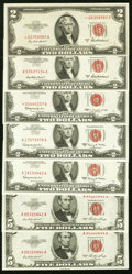 Small Size:Legal Tender Notes, More $2 and $5 Legal Tender Notes Seven Examples.. ... (Total: 7notes)