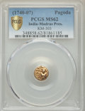 India:British India, India: British India. Madras Presidency gold Pagoda ND (1740-1807) MS62 PCGS,...
