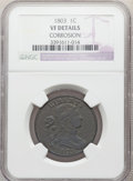 1803 1C Small Date, Small Fraction -- Corrosion -- NGC Details. VF. NGC Census: (20/245). PCGS Population: (56/389). VF2...
