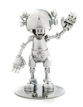 Collectible:Contemporary, KAWS X Hajime Sorayama . No Future Companion (Silver Chrome), 2008. Metallized plastic. 12-1/2 x 7-3/4 x 7-3/4 inches (3...