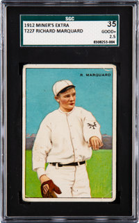 1912 T227 Series of Champions Rube Marquard SGC 35 Good+ 2.5