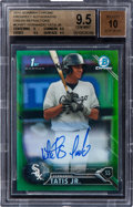 Baseball Cards:Singles (1970-Now), 2016 Bowman Chrome Fernando Tatis Jr Green Refractor Autograph Numbered 74/99 #CPAFT BGS Gem Mint 9.5 - 10 Autograph....