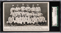Circa 1905 Philadelphia Athletics Team Postcard SGC 60 EX 5 - Pop Two, None Higher