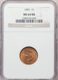 Indian Cents: , 1895 1C MS64 Red and Brown NGC. NGC Census: (205/95). PCGS Population: (312/61). CDN: $140 Whsle. Bid for problem-free NGC/...