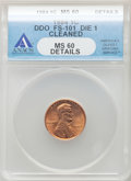 Lincoln Cents, 1984 1C Doubled Die Obverse, FS-101 -- Cleaned -- ANACS. MS60Details. Die-1. ...
