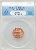 Lincoln Cents, 1983 1C Doubled Die Reverse Brown -- Cleaned -- ANACS. MS60Details. CDN: $120 Whsle. Bid for problem-free NGC/PCGS MS60. ...