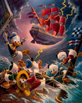 Memorabilia:Comic-Related, Carl Barks Afoul of the Flying Dutchman Gold Plate Edition Lithograph #91/100 (Another Rainbow, 1985). ...